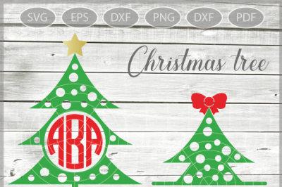 Christmas Tree Monogram SVG - Xmas tree Svg - Christmas Tree SVG - Christmas SVG - Xmas svg - Svg - Dxf - Eps - Png - Jpg - Pdf