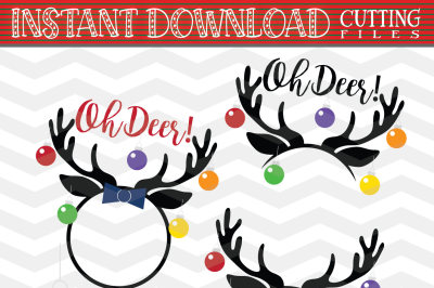 Reindeer Svg - Reindeer Monogram Svg - Reindeer Cut Files - christmas reindeer SVG - Christmas SVG - Xmas svg - Cutting File - Deer Svg