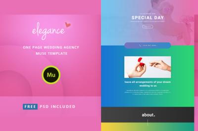 Elegance - Wedding Agency Muse Template