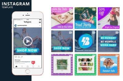 Instagram Video Photoshop Template