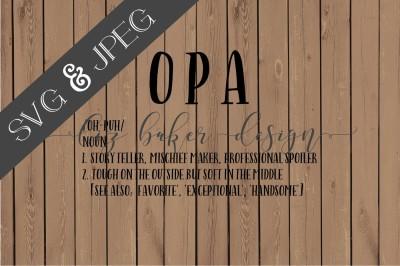 Opa Cut File SVG JPEG