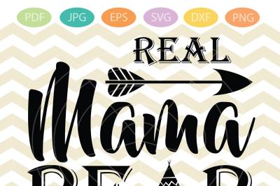 Real Mama bear SVG - Mama SVG file - DIY