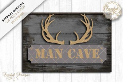 Man Cave Sign Stencil, Cut File