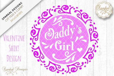 Daddy's Girl Valentine Design, Cutting file