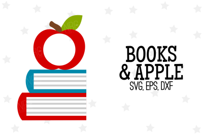 Apple Books Frame SVG, Cut File