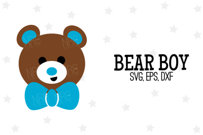 Boy Bear SVG, Cut File