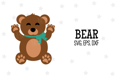 Bear SVG, Cut File