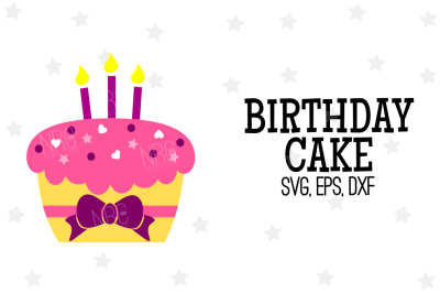 Birthday Cake SVG, Cut File