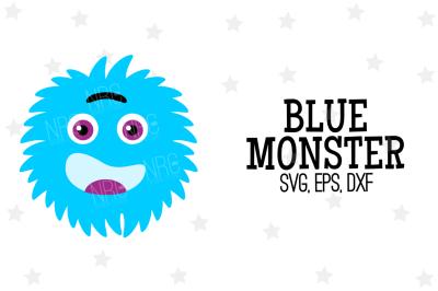 Blue Monster SVG, Cut File