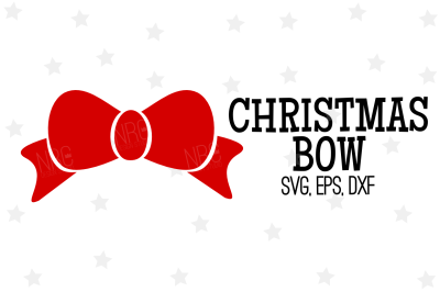 Christmas Bow SVG, Cut File