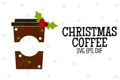 Christmas Coffee SVG, Cut File
