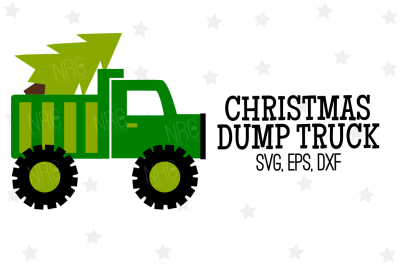 Christmas Dump Truck SVG, Cut File