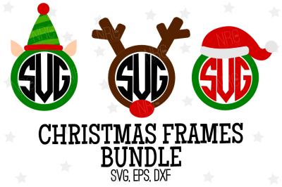 Christmas Frames Bundle SVG, Cut File