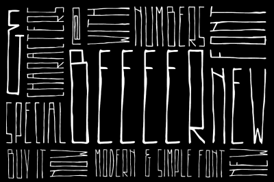 BEEEER font