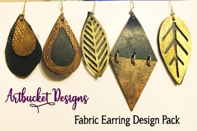 Fabric Earring Design Pack of 7- Stacked Designs