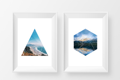 30 Geometric Photo Masks