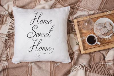 Plaid Pillow Mockup. PSD+JPG