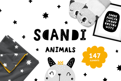 Scandinavian Animals - Nursery prints