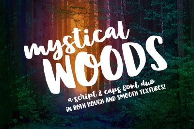 Mystical Woods: a script and caps font duo