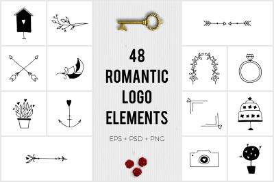 Romantic Logo Elements