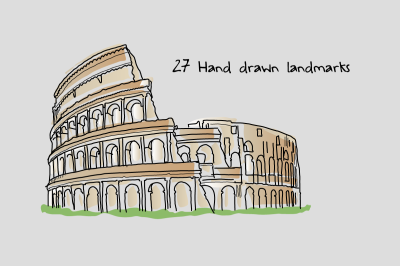 Landmarks-SVGs for Videoscribe