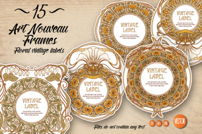 15 Art Nouveau Labels