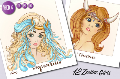 12 Zodiac Girls