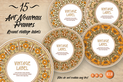 15 Art Nouveau Labels set 2