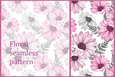 Pink floral pattern 1