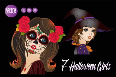 7 Halloween Girls