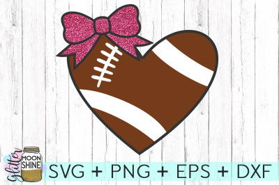 Football Heart SVG PNG DXF EPS Cutting Files