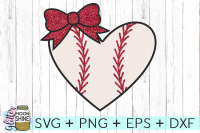 Baseball Heart SVG PNG DXF EPS Cutting Files