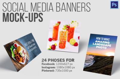 Social Media Banners - 24 Mockup