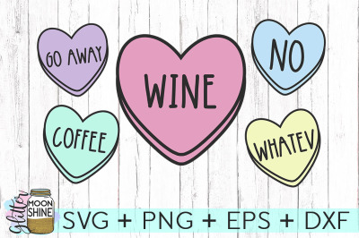 Sassy Candy Heart Bundle SVG PNG DXF EPS Cutting Files
