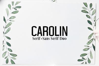Carolin Duo 5 Font Family Pack