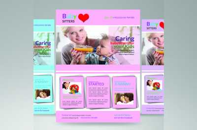 baby care flyer