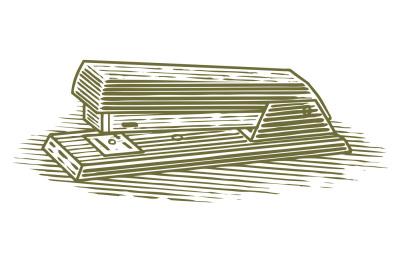 Woodcut Stapler