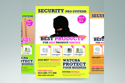 security product flyer