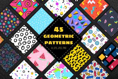 45 geometric patterns