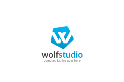 Wolf Studio W Letter Logo