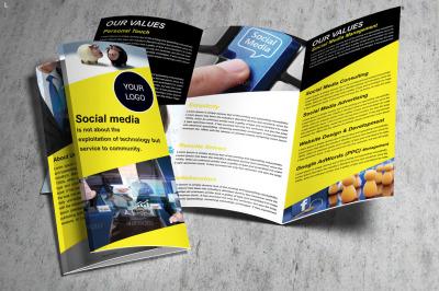 Social Media Trifold Brochure