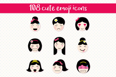 108 anime style emoticons