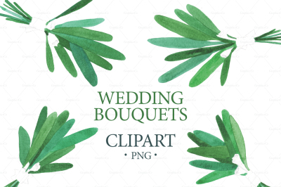 Watercolor WEDDING BOUQUETS Clipart, Wedding Clipart, Logo Branding, Floral Border Clipart, Digital Paper, Greenery wedding Clipart png