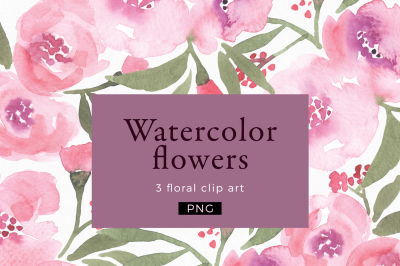 Watercolor flowers Clipart, Wedding Clipart, Logo Branding, Floral Border Clipart, Digital Paper, Greenery Wreath Clipart, floral wreath png
