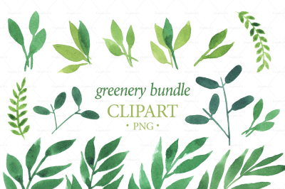 GREENERY BUNDLE png. Greenery watercolor graphics. decoration card. leaves graphics. Download Clipart wreath. Instant download crown