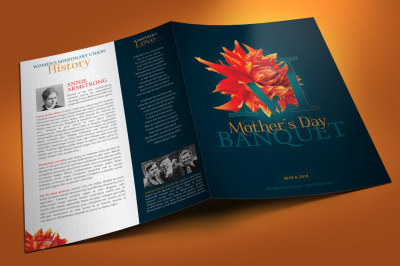 Mothers Day Banquet Brochure Template