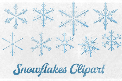 Snowflakes Elements - Winter Clipart