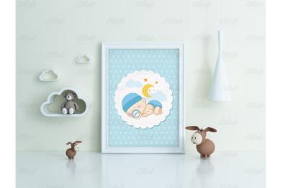 Kids Room Frame&2F;poster Mockup toy