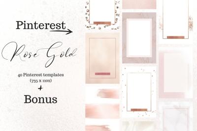 Pinterest rosé gold bundle