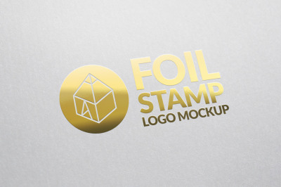 Foil Stamp Logo Mock-up